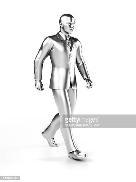 businessman walking, artwork - human representation stock illustrations