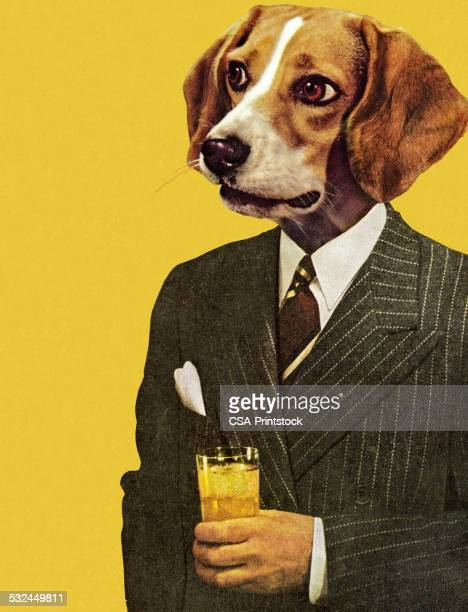 Businessman with a Dog Head