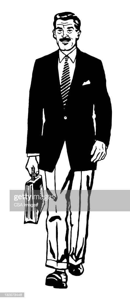 Businessman With Briefcase : stock illustration