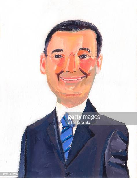 businessman with glasses - corporate business stock illustrations