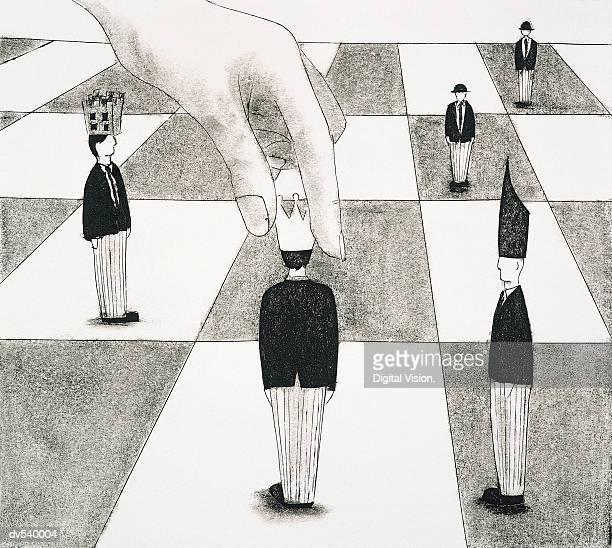 ilustraciones, imágenes clip art, dibujos animados e iconos de stock de businessmen pawn in a chess game - tablero de ajedrez