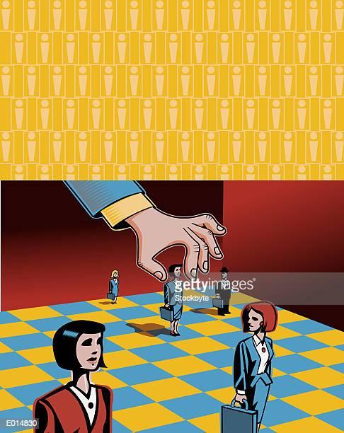 ilustraciones, imágenes clip art, dibujos animados e iconos de stock de businesspeople as pawns - tablero de ajedrez