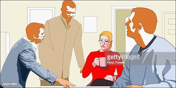 Businesspeople meeting in office (Digital)