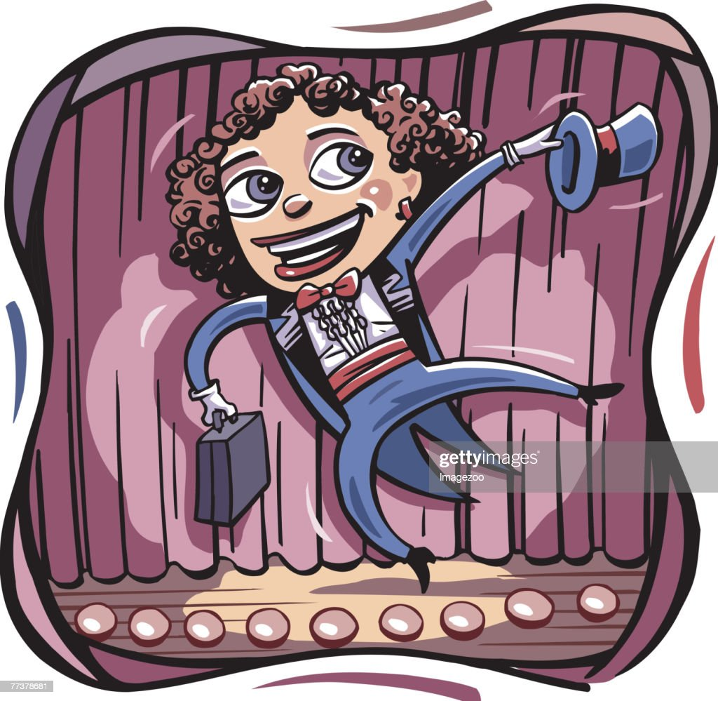 businesswoman giving a sales pitch : Illustration