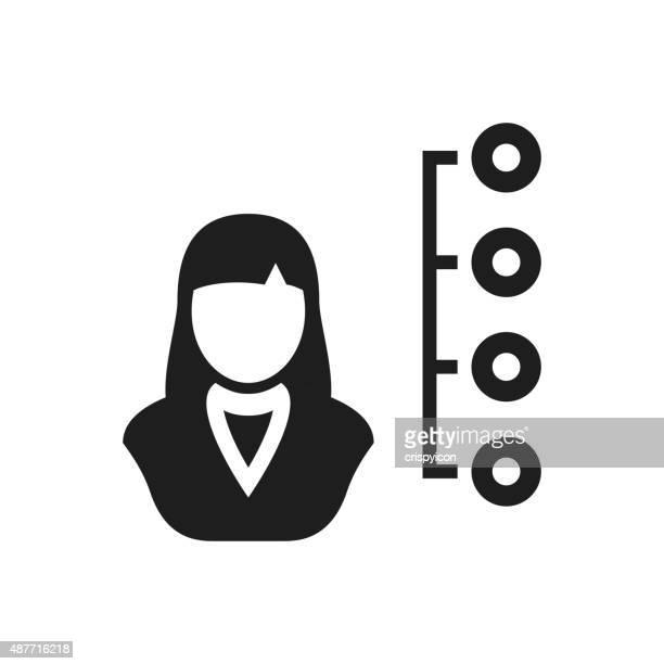 Businesswoman icon on a white background.