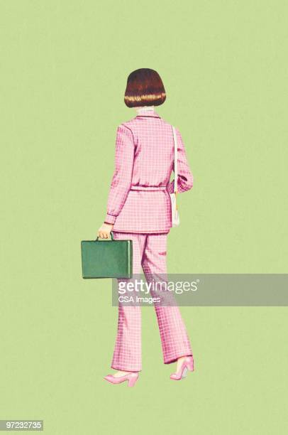 businesswoman - rear view stock illustrations