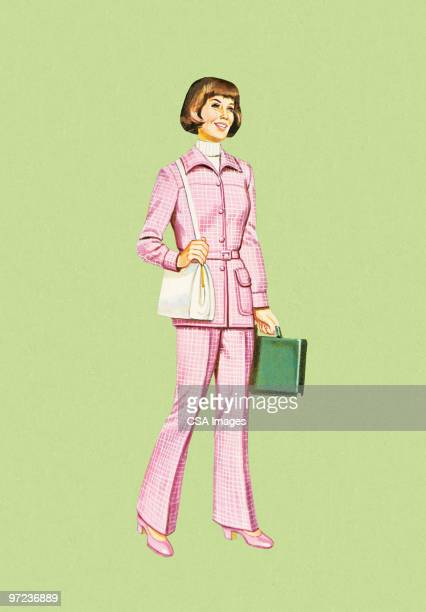 businesswoman - office stock illustrations