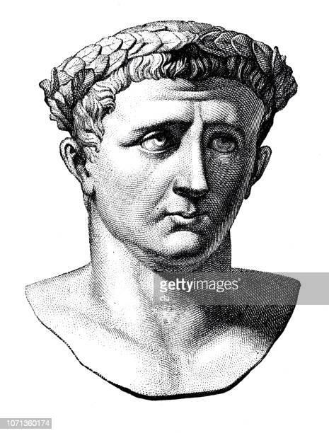 bust of claudius, roman emperor - emperor stock illustrations, clip art, cartoons, & icons