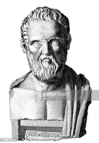 ilustraciones, imágenes clip art, dibujos animados e iconos de stock de busto de isokrates, orador griego - filosofos griegos