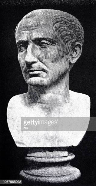 bust of julius caesar - naples italy stock illustrations