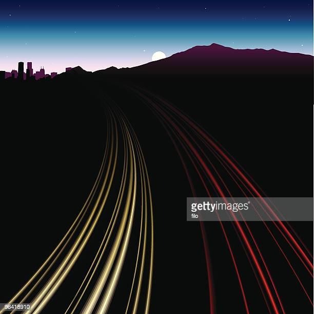 Busy Highway Blur