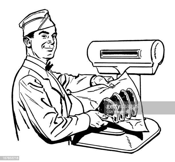 butcher - sirloin steak stock illustrations, clip art, cartoons, & icons