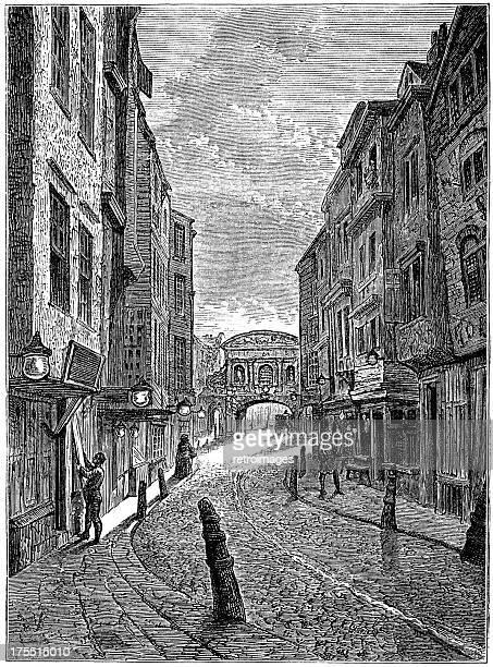 bildbanksillustrationer, clip art samt tecknat material och ikoner med butcher's row, london in 1800 (illustration) - kullersten