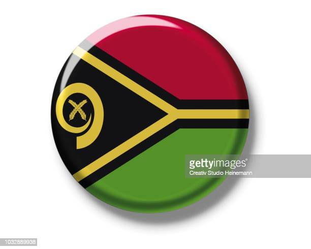 Button badge, flag, Vanuatu