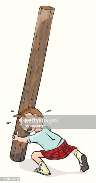 caber toss trouble - traditional sport stock illustrations, clip art, cartoons, & icons