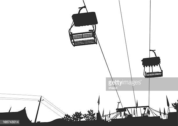 cable car - steel cable stock illustrations, clip art, cartoons, & icons
