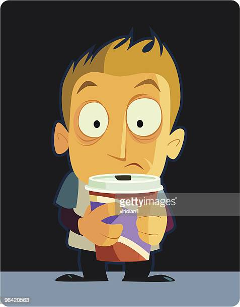caffiend - spiked stock illustrations, clip art, cartoons, & icons
