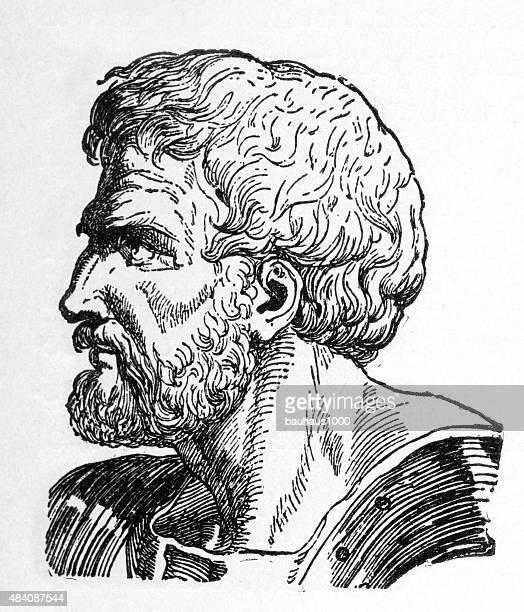 caius marius, 157-86 b.c. engraving - greek people stock illustrations, clip art, cartoons, & icons