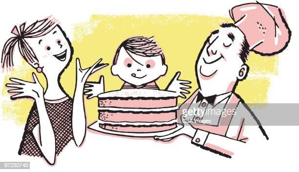 cake - baker occupation stock illustrations