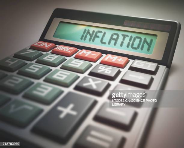 calculator with inflation - inflation stock illustrations