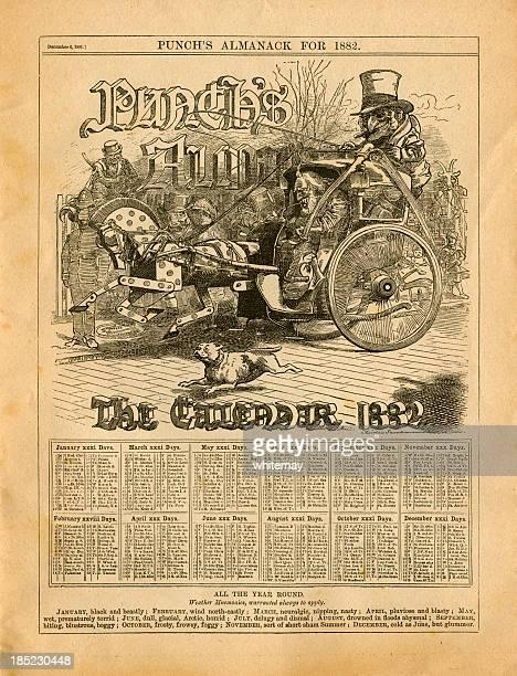 Calendário para 1882 de Almanack de Ponche