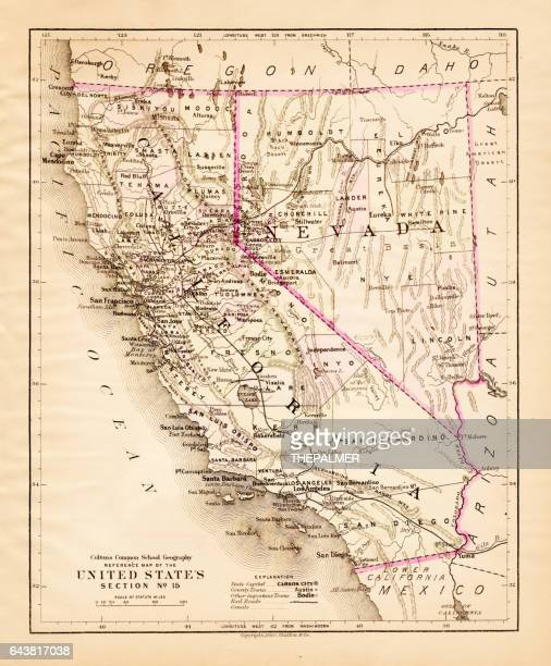 California Nevada map 1881
