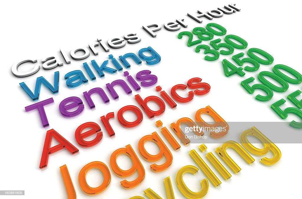 Calorie Exercise Chart : Stock Illustration