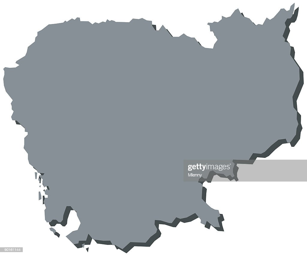 Cambodia Cambodian Asia Map High-Res Vector Graphic - Getty ...