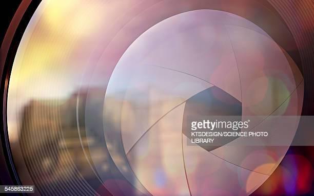 camera lens, illustration - close up stock illustrations