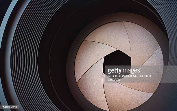 camera lens, illustration - close up stock illustrations