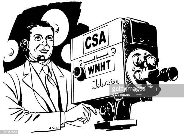 cameraman - television show stock-grafiken, -clipart, -cartoons und -symbole