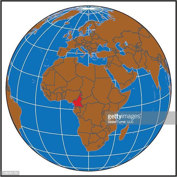 Cameroon locator map