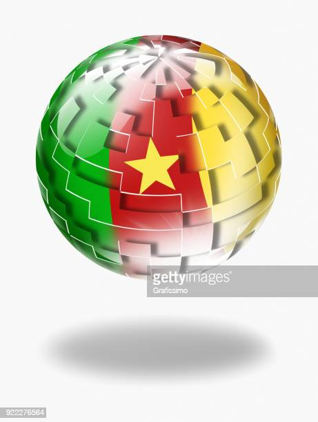 cameroon sphere with flag isolated on white - cameroon stock illustrations, clip art, cartoons, & icons