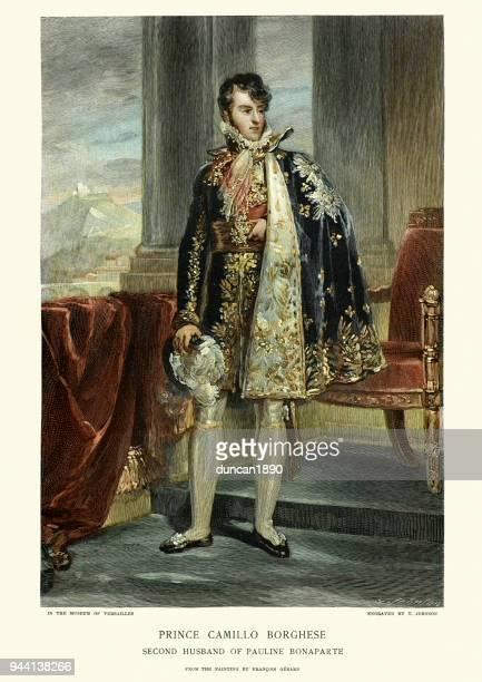 illustrations, cliparts, dessins animés et icônes de camille borghèse, 6e prince de sulmona - prince monarque