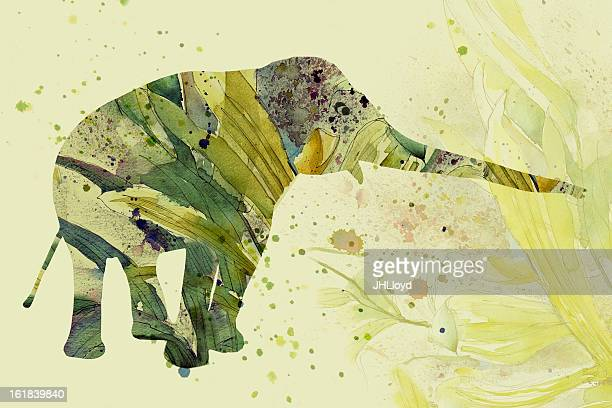ilustrações de stock, clip art, desenhos animados e ícones de elefante camouflaged - elefante