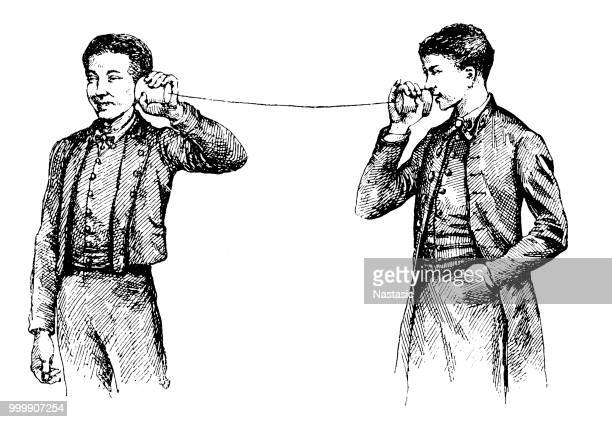 can telephone - can stock illustrations