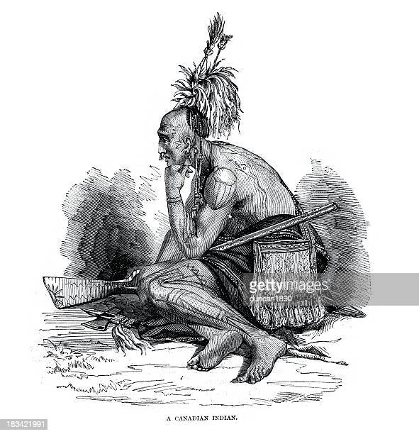 canadian indian - warrior person stock illustrations, clip art, cartoons, & icons