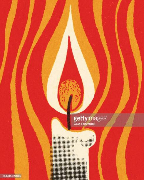 candle - modern art stock illustrations