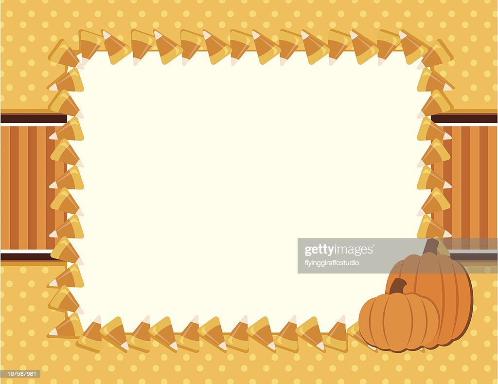 Candy Corn Fall Halloween Background High Res Vector Graphic
