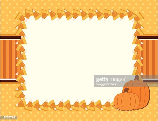 Candy Corn Fall Halloween Background