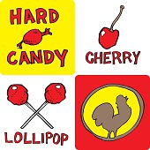 Candy & Fruit Mix (vector illustration)