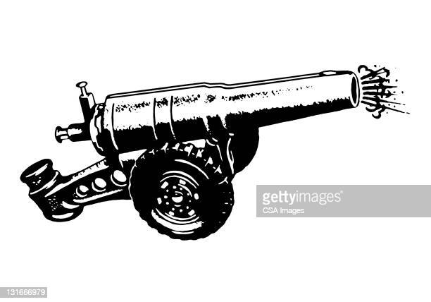 cannon - military stock illustrations