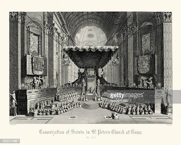 Canonisation of Saints in St Peter's Church at Rome