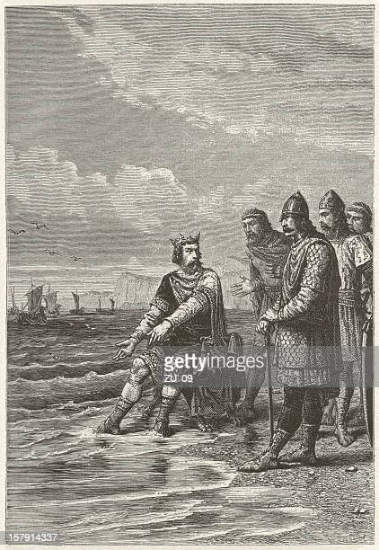canute the great (c. 995-1035), wood engraving, published in 1881 - circa 10th century stock illustrations