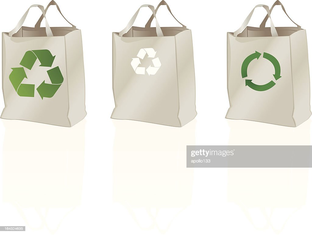 Canvas Tote Bags Vector