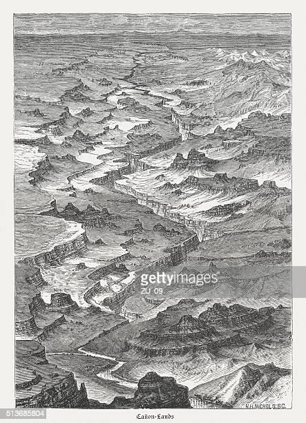 Canyonlands National Park, Utah, USA, wood engraving, published in 1880