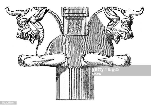 """hauptstadt von einer spalte im """"persepolis"""" - iran persepolis stock-grafiken, -clipart, -cartoons und -symbole"""