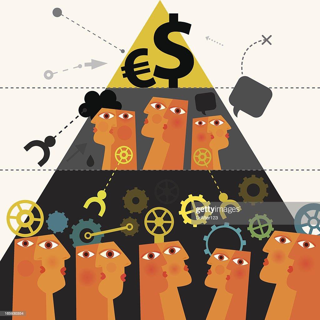 Capitalistic System : Vector Art