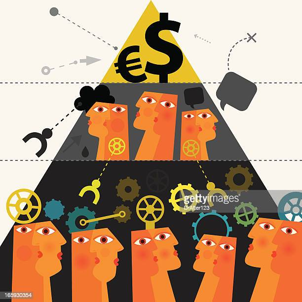 capitalistic system - conspiracy stock illustrations, clip art, cartoons, & icons