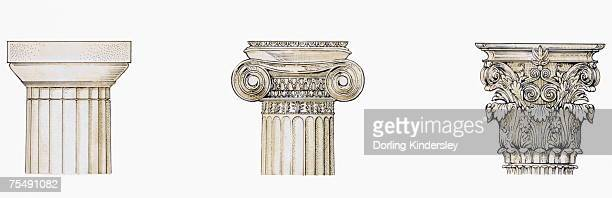 capitals - corinthian stock illustrations, clip art, cartoons, & icons